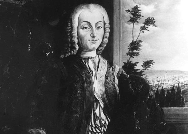 عکسی از یک پرتره از بارتولومئو کریستافوری در سال ۱۷۲۶