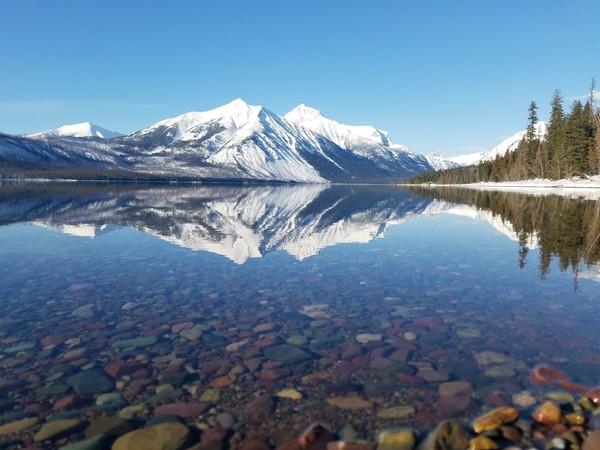 پارک ملی گلیشر در مونتانا در فصل زمستان
