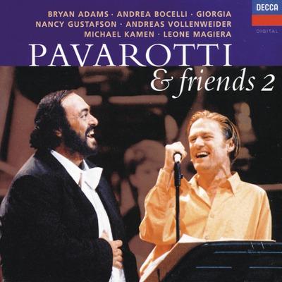 اجرای آهنگ O sole mio توسط لوچانو پاواروتی و برایان آدامز در آلبوم پاواروتی و دوستان 2