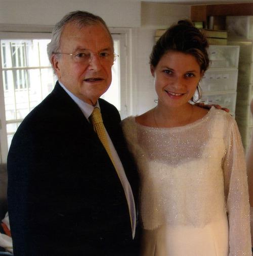 پل سنویل آهنگساز آهنگ Ballade pour Adeline به همراه دخترش آدلین